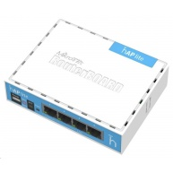 MikroTik hAP Lite (classic), 650MHz CPU, 32MB RAM, 4x LAN, integr. 2.4GHz Wi-Fi, WPS, vč. L4