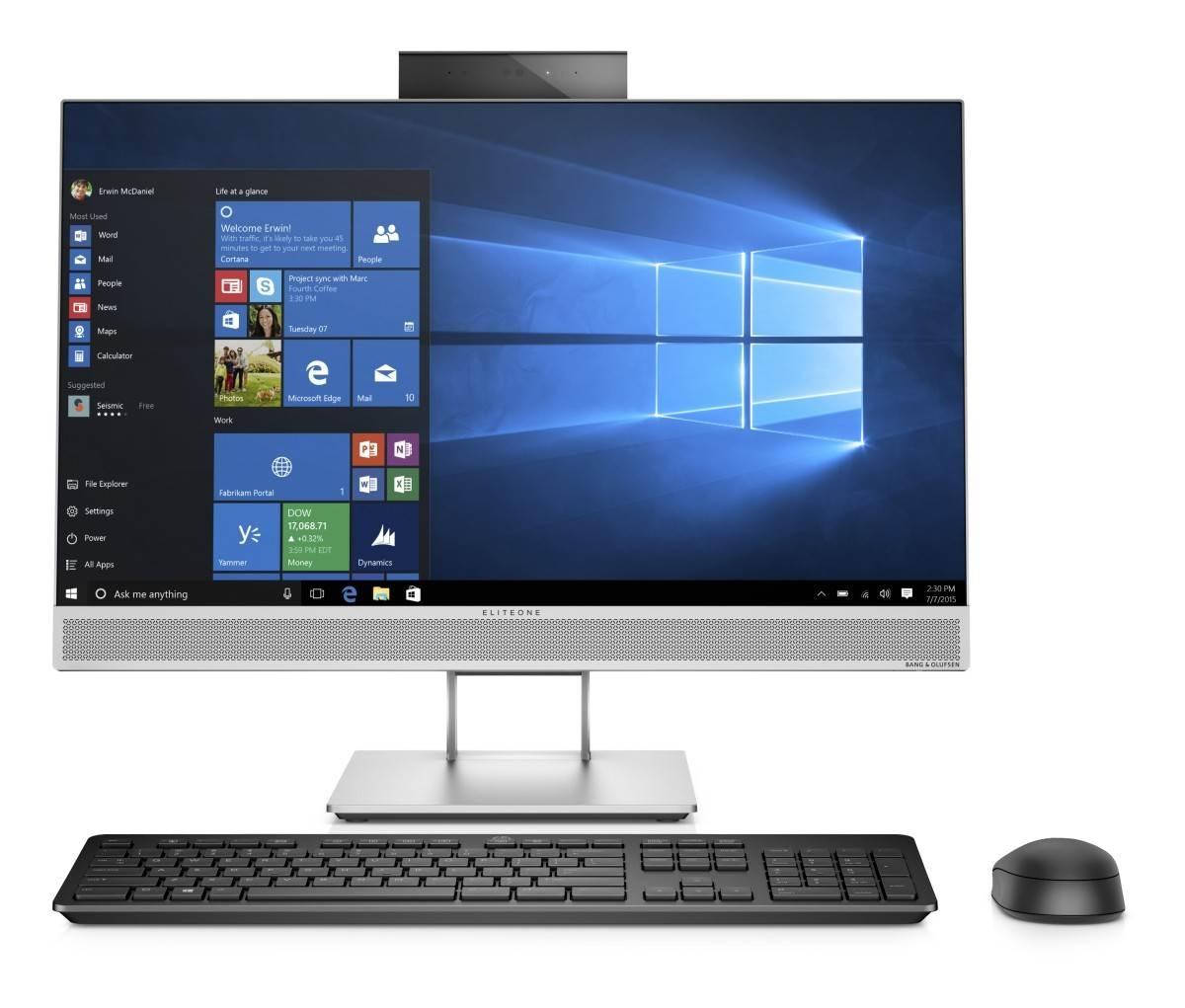 HP EliteOne 800G4 AiO 23.8NT i5-8500,8GB,256GB M.2,WiFi a/b/g/n/ac+BT VPro, wrls kláv. myš,SD MCR,DVDRW,DP+HDMI,Win10Pro