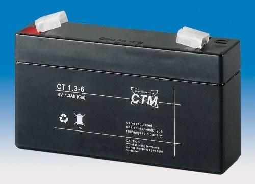Baterie - CTM CT 6-1,3 (6V/1,3Ah - Faston 187)
