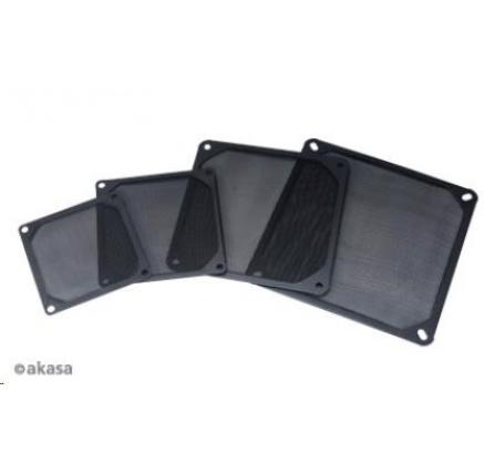 AKASA prachový filtr  GRM140-AL01-BK, 140mm, hliník