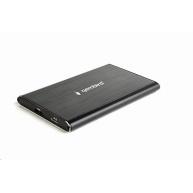 """GEMBIRD externí box (EE2-U3S-4) 2.5"""" zařízení, USB 3.0, SATA, broušený hliník, černá"""