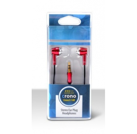 CRONO sluchátka špuntová E-14R, červená