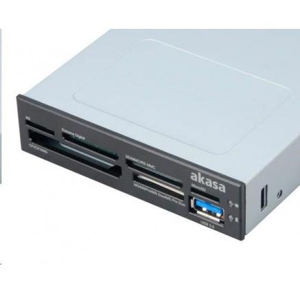 """AKASA čtečka karet AK-ICR-07U3 do 3.5"""", 6-slotová, 1x USB 3.0"""