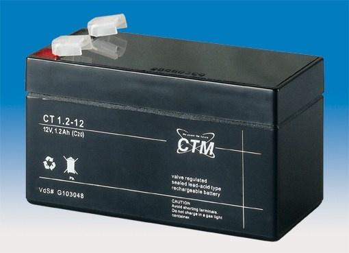 Baterie - CTM CT 12-1,2 (12V/1,2Ah - Faston 187)