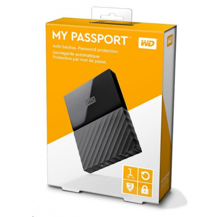 "WD My Passport 1TB Ext, 2,5"" USB3.0, BLACK"