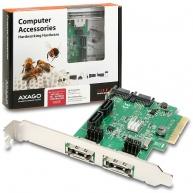 AXAGON PCES-SH4, PCIe 2-Lane řadič 4x int./2x ext. SATA 6G HD
