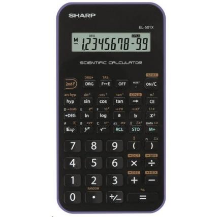 SHARP kalkulačka - EL501XVL - fialová
