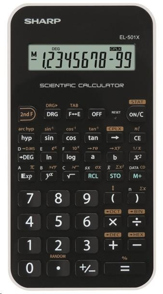 SHARP kalkulačka - EL501XWH - bílá
