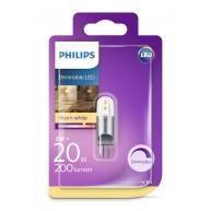 PHILIPS LED žárovka kapková G4 12V 2W G4 DIM 200lm 2700K A++ 15000h (Blistr 1ks)