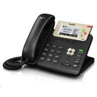 "Yealink SIP-T23G IP telefon, 2,8"" 132x64 LCD,3 prog.tl.,2x 10/100/1000, PoE, 3x SIP, bez adaptéru"