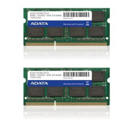 SODIMM DDR3 16GB 1333MHz CL9 (KIT 2x8GB) ADATA memory, 512x8, Dual kit