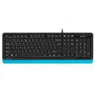 A4tech FK10 FSTYLER, klávesnice, CZ/US, USB, modrá barva