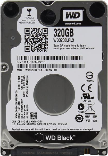 """WD BLACK WD3200LPLX 320GB SATA/600 32MB cache, 2.5"""" AF, 7mm"""
