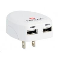 SKROSS USB nabíjecí adaptér SKROSS USA, 2400mA, 2x USB výstup