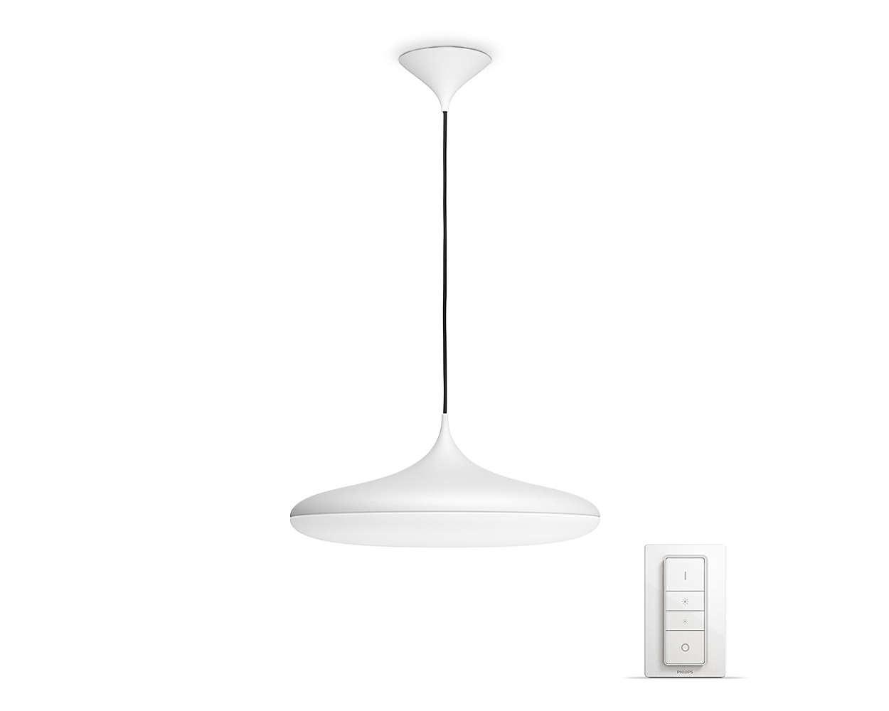 PHILIPS Cher Závěsné svítidlo, Hue White ambiance, 230V, 1x39W integ.LED, Bílá