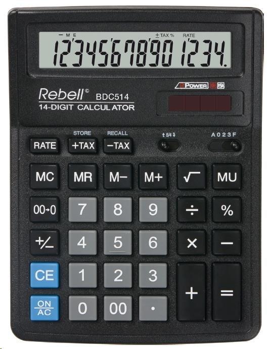 REBELL kalkulačka - BDC514 - černá