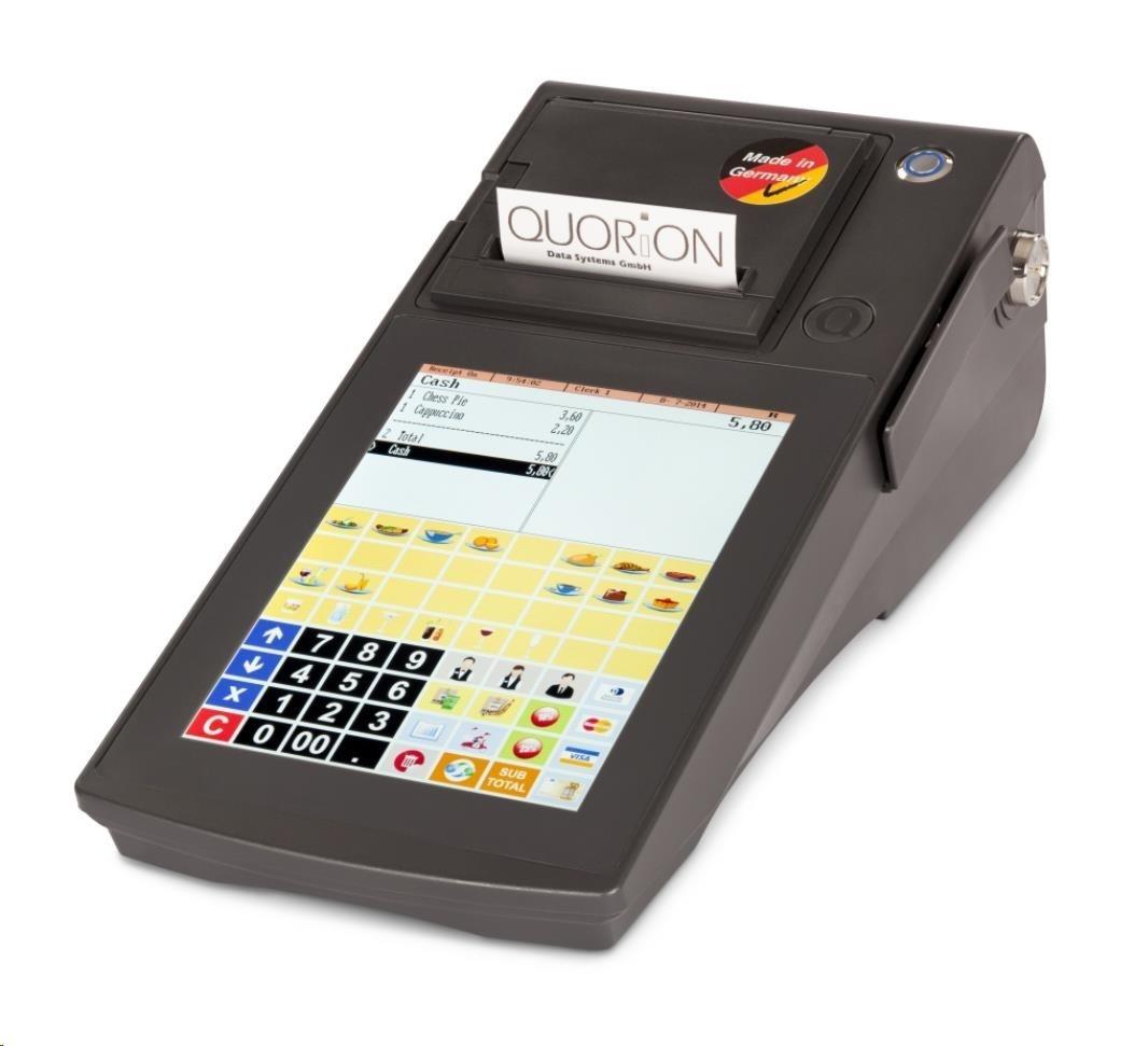 Quorion pokladna Qtouch 8 Black EET 2xRS, tisk. 57mm, Lan + EET licence