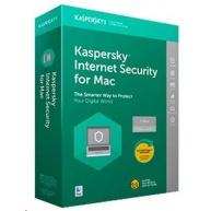 Kaspersky Internet Security MAC 2019 CZ, 1 zařízení, 1 rok, obnova licence, elektronicky