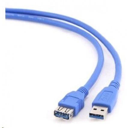GEMBIRD Kabel USB 3.0 A-A prodlužovací 1,8m (modrý)