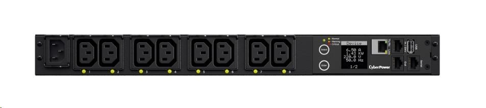 CyberPower Rack PDU, Switched, 1U, 10A, (8)C13, IEC C14