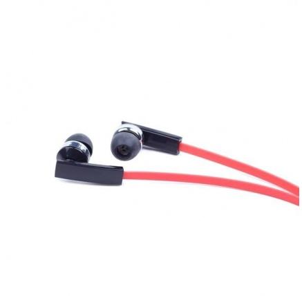 GEMBIRD sluchátka s mikrofonem MHS-EP-OPO pro MP3, plochý kabel, černá