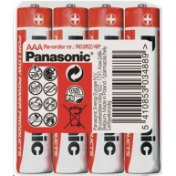 PANASONIC Zinkouhlíkové baterie - Red Zinc AAA 1,5V - 4ks