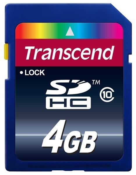 TRANSCEND SDHC Class 10 4GB (Premium)
