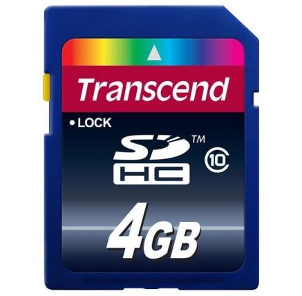 TRANSCEND SDHC karta 4GB Premium, Class 10
