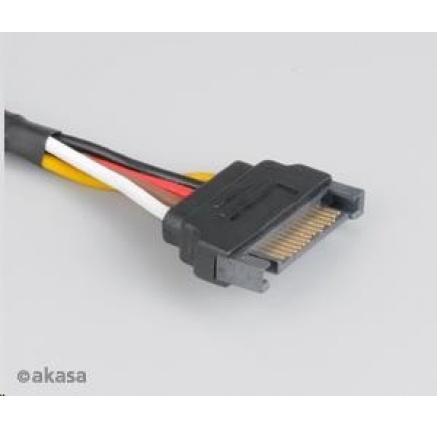 AKASA kabel SATA prodlužka napájení, 30cm