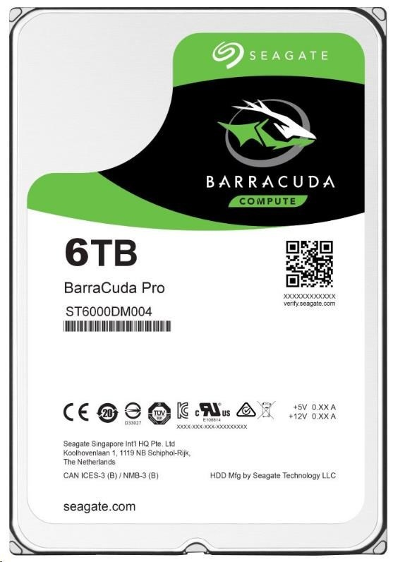 SEAGATE HDD BARRACUDA PRO 6TB SATAIII/600 7200RPM, 256MB cache