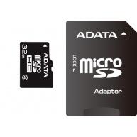 ADATA MicroSDHC karta 32GB Class 4 + SD adaptér