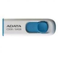 ADATA Flash Disk 64GB C008, USB 2.0 Classic, bílá