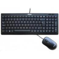 MSI set klávesnice a myši, bezdrátový StarType ES502W, CZ/SK lokalizace, černá