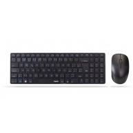 RAPOO set klávesnice a myš 9300M Wireless Multi-Mode Slim Mouse and Ultra-Slim Keyboard Black