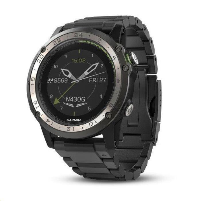 Garmin GPS sportovní hodinky D2 Charlie Titanium Optic