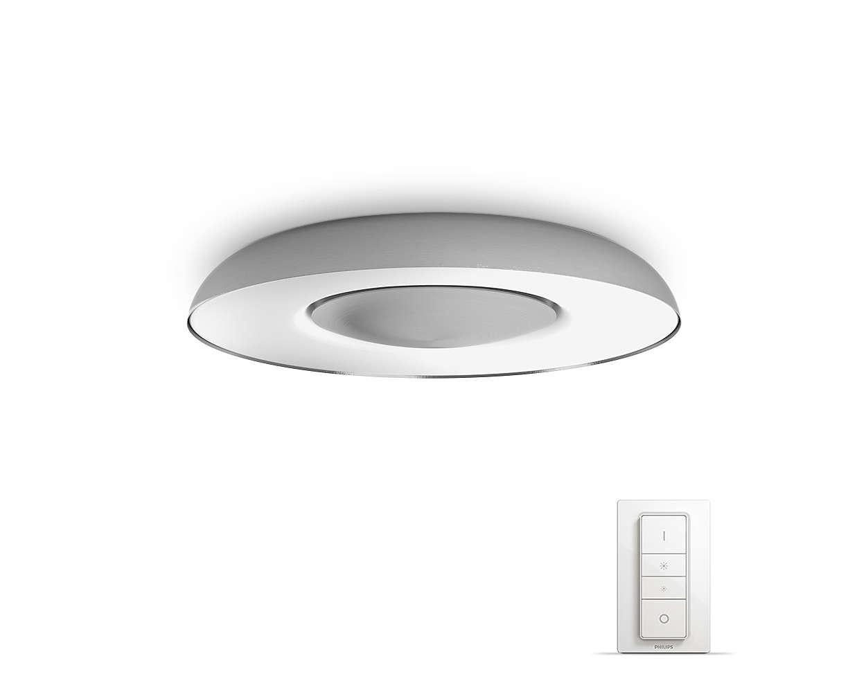 PHILIPS Still Stropní svítidlo, Hue White ambiance, 230V, 1x32W integ.LED, Aluminium