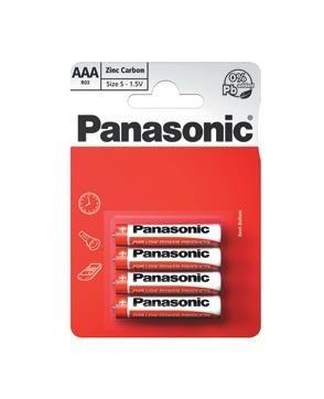 PANASONIC Zinkouhlíkové baterie - Red Zinc - blistr AAA 1,5V balení - 4ks