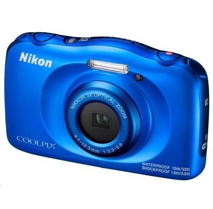 NIKON kompakt Coolpix W100, 13MPix, 3x zoom - modrý - Backpack kit