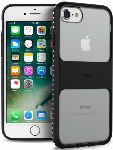 """Puro magnetický zadní kryt Impact Pro """"Magnet Shield"""" pro Apple iPhone 6, 6s, 7, 7s, černá"""