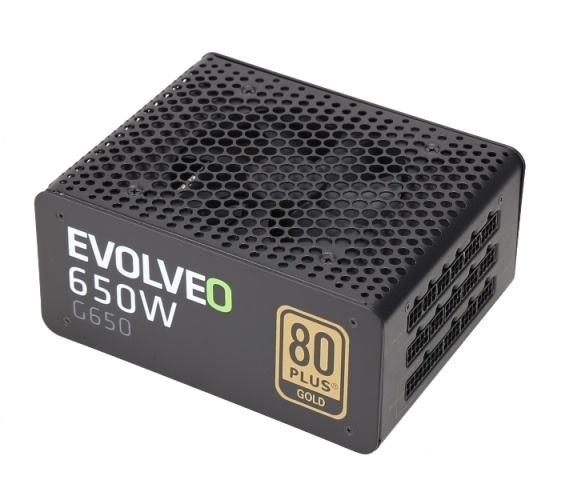 EVOLVEO G650 zdroj 650W, eff 90%, 80+ GOLD, aPFC, modulární, retail