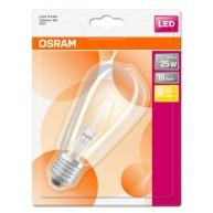 OSRAM LED STAR CL Edison Filament 2,5W 827 E27 250lm 2700K (CRI 80) 15000h A++ (Krabička 1ks)