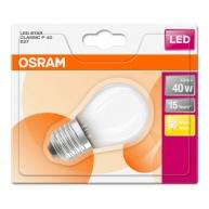 OSRAM LED STAR CL P GL Fros. 4W 827 E27 470lm 2700K (CRI 80) 15000h A++ (Blistr 1ks)