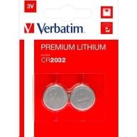 VERBATIM Lithium baterie CR2032 3V 2 Pack