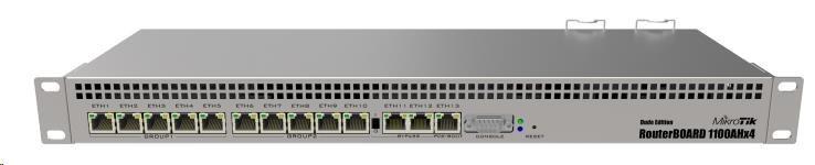 MikroTik RouterBOARD RB1100AHx4 (RB1100x4), 1.4GHz Quad-Core CPU, 1GB RAM, 13x LAN, vč. L6 licence