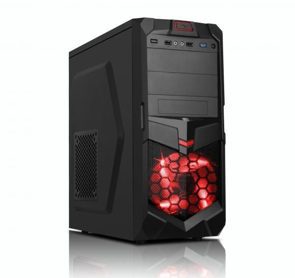 EUROCASE skříň ML X605 black, 2x USB, 2x audio, USB 3.0, bez zdroje