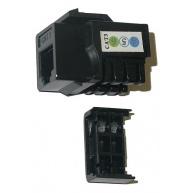 Keystone Cat3 (telefonní), UTP, duální svorkovnice, černý