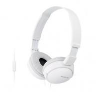 SONY stereo sluchátka MDR-ZX110AP, bílá