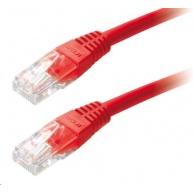 Patch kabel Cat5E, UTP - 2m, červený