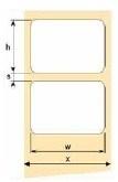 OEM samolepící etikety 68mm x 38mm, bílý PE, cena za 2000 ks