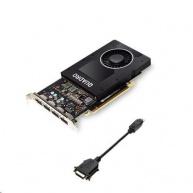 NVIDIA Quadro P2200 5GB GDDR5, PCIe 3.0 Card, 4x display port